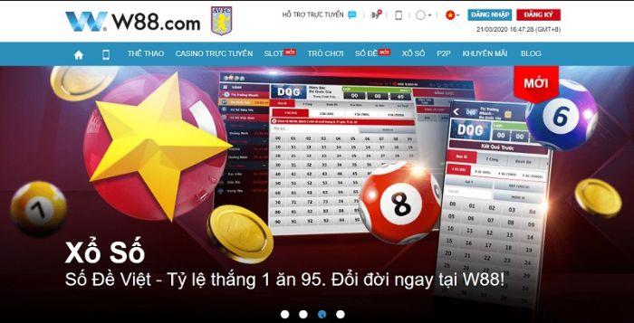 Lô đề, số đề & cách chơi đánh đề online 1 ăn 95 tại W88