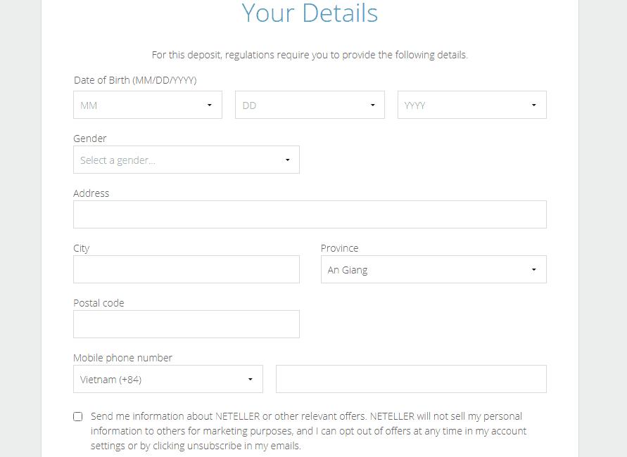 đăng ký tài khoản neteller