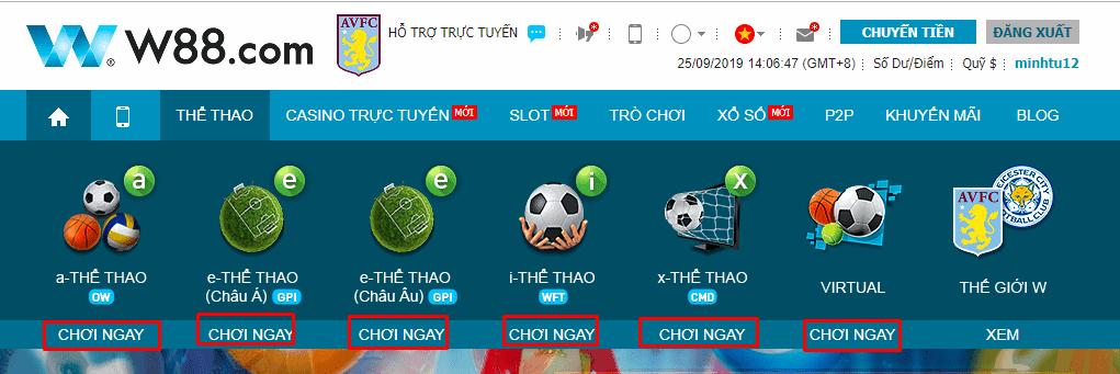 Hướng dẫn chơi cá độ bóng đá online không thua tại W88