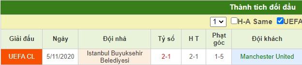 nhận định mu vs istanbul basaksehir